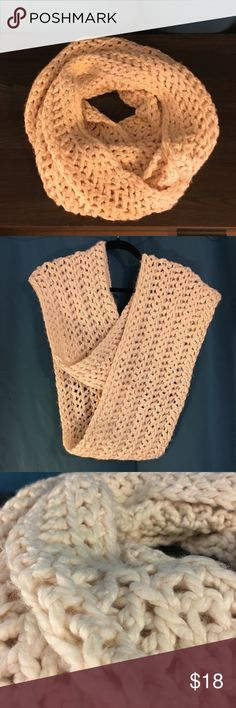 Chunky Handmade Knit Infinite Scarf Yummy and oh so cozy thick knitting. Wraps around up to three times for ultimate warmth and protection from the cold. Handmade. Bought on Etsy. Handmade Accessories Scarves & Wraps