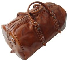Genuine Italian Leather Holdall Cabin Bag Overnight Weekend Case Duffel Hand Luggage (Carry On, Tan): Amazon.co.uk: Luggage £214.99
