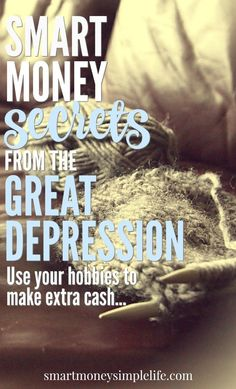 Smart money secrets from the great depression. Skills and knowledge that will help you save money and be more self-reliant today. Ways To Save Money, Money Tips, Money Saving Tips, Great Depression, Depression Help, Making Extra Cash, Budgeting Money, Frugal Tips, Money Management