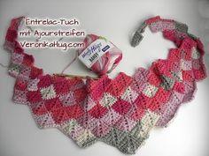 (182) Häkeln Entrelac-Tuch - Woolly Hugs BANDY Veronika Hug - Teil 1 | Tunus İşi | Pinterest