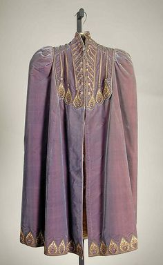 Evening cape Designer: Emile Pingat Date: 1890 Culture: French Medium: Silk, metallic, beads, stones Accession Number: 2009.300.7431