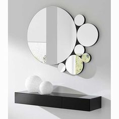 Tricks of using mirrors in interior design … – Spiegel Decoration Hall, Home Entrance Decor, Entryway Decor, Wall Decor, Room Decor, Home Living Room, Living Room Designs, Wall Design, House Design