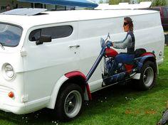 Cool van and paint job by rhundhausen, via Flickr