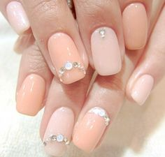 Peachy Pinky Nails