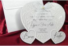 Faire-part mariage Trio de Coeur