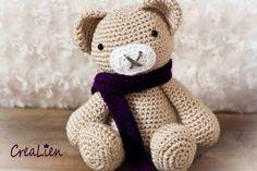 Instant Download Crochet pattern PDF Teddybear Bear by CreaLien, €1.50