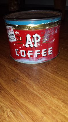 Vintage A & P Coffee Tin by 3LittleWitches on Etsy