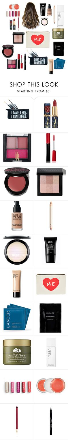 """""""Beauty~Beauty and The Beast Makeup"""" by destiny-ivey on Polyvore featuring beauty, SugarLuxeShop, Black Radiance, Giorgio Armani, Bobbi Brown Cosmetics, MAKE UP FOR EVER, ALPHABET BAGS, Lancer Dermatology, Cleanse by Lauren Napier and Origins"""