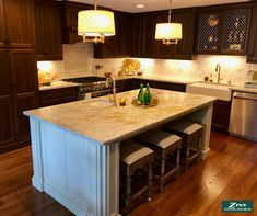 """Want to gain some extra space in your kitchen? """"No back"""" stools are the compliment to a kitchen island! Backless stools slide completely under the counter so they don't interfere with daily flow of your kitchen but are ready as needed for additional seating!"""