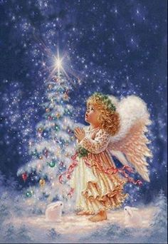 Merry Christmas Wishes : Illustration Description My Christmas Wish Christmas Jigsaw Puzzle Christmas Scenes, Vintage Christmas Cards, Christmas Wishes, Christmas Pictures, Christmas Angels, Christmas Greetings, Winter Christmas, Christmas Time, Christmas Crafts