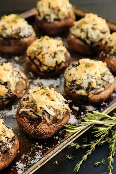 Mashed Potato and Wild Rice Stuffed Mushrooms from @farmgirlsdabble