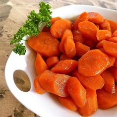 Carrots are glazed with a butter and brown sugar glaze in this simple but delicious side dish.