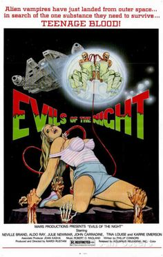 Evils of the Night - amazing 80s horror movie poster