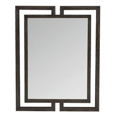 Bernhardt This open wood frame mirror is visually compelling. The non-beveled mirrored glass adds to its sleek construction. Designed to be hung vertically or horizontally, it adds an eclectic touch to any living space. Foyer Mirror, Wood Framed Mirror, Round Wall Mirror, Dresser With Mirror, Contemporary Wall Mirrors, Modern Wall, Slate Coffee Table, Distressed Bathroom Vanity, Console