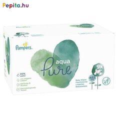 A 99%-ban vízből és organikus pamutból készült Pampers Aqua Pure törlőkendő segít megóvni a babák finom bőrét. Parfümöt vagy alkoholt nem tartalmaz. Az összetevők fennmaradó 1%-a bőrgyógyászatilag tesztelt, gyengéd tisztító hatóanyagokból valamint igazolt összetevőkből áll, melyek segítenek megőrizni a kisbabák bőrének pH-egyensúlyát, illetve óvják azt az irritációval szemben. Az Aqua Pure törlőkendők biztonságosan használhatók az újszülöttek bőrén is.    Jellemzői:  - 99%-ban vízzel készült… Organic Baby Wipes, Lotion, Aqua, Perfume, Organic Cotton, Pure Products, Germania, Affordable Clothes, Newborns