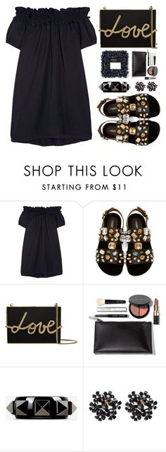 """Untitled #368"" by simona-altobelli ❤ liked on Polyvore featuring Clu, Dolce&Gabbana, Lanvin, Bobbi Brown Cosmetics, Valentino, monochrome, MyStyle and blackdress"
