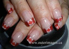 Just for you Bornstein - Canada Nails Cute Nail Polish, Nail Polish Designs, Nail Art Designs, Love Nails, Pretty Nails, Funky Nails, Country Nail Art, Cookie Monster Nails, Santa Hat Nails
