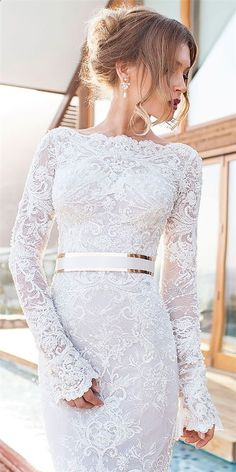Wonderful Perfect Wedding Dress For The Bride Ideas. Ineffable Perfect Wedding Dress For The Bride Ideas. Wedding Dress Sleeves, Long Sleeve Wedding, Elegant Wedding Dress, Cheap Wedding Dress, Dream Wedding Dresses, Bridal Dresses, Wedding Gowns, Dresses Dresses, Wedding Dress With Gold