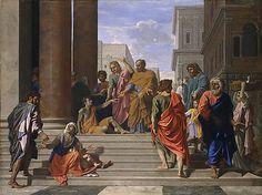 Saints Peter and John Healing the Lame Man  Date: 1655  Medium: Oil on canvas