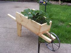 DIY Wheelbarrow-Find a wheel and you're ready to go