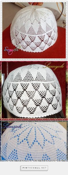 I don't understand the language of the site where I saw this (maybe Turkish?) but I think this delicate lace work looks like a prayer cap.