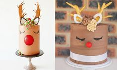 Rudolph cake is officially the best Christmas dessert EVER christmas desserts creative Best Christmas Desserts, Christmas Cake Decorations, Christmas Brunch, Christmas Baking, Christmas Treats, Christmas Fun, Christmas Cakes, Christmas Birthday Cake, Xmas Cakes