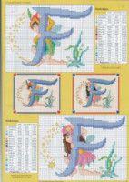 Fairy Alphabet -F Cross Stitch Alphabet Patterns, Disney Cross Stitch Patterns, Cross Stitch Letters, Cross Stitch Charts, Cross Stitching, Cross Stitch Embroidery, Embroidery Patterns, Alphabet Images, Cross Stitch Fairy