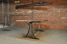 After several months of R&D, we'd love to introduce our new table design. We incorporated lattice and quatrefoil to make the unique center. It's industrial with a touch of elegance! Built by Vintage Industrial in Phoenix....
