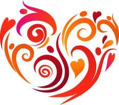 heart scroll design