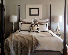 Black, White, Gray Bed