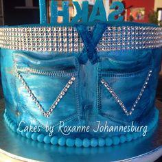 Denim & Diamond Themed cake