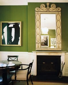 Mossy green walls