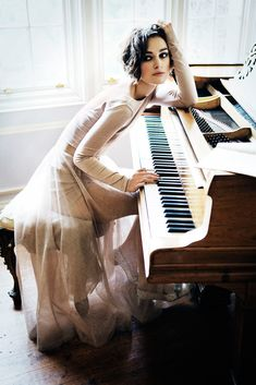 Keira Knightley- I love the idea for pictures for a piano player.
