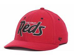 '47 Brand Retro Script Stretch Hat / Cap - S/M - MLB - Cincinnati Reds #47Brand #CincinnatiReds