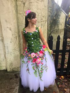 Spring Fairy. Flower fairy costume. Adult fairy costume. Garden fairy.