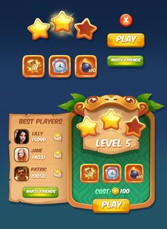 Game UI on Behance
