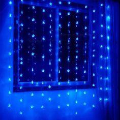 Blue Pentagram Led String Light With 72 Leds
