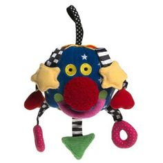 $14.99 - It?s way cool!• A smaller version of the popular Whoozit baby toy, this cute little guy has a variety of squishy shapes, squeakers, rattles, and crinkly sounds. • Baby Whoozit is made of soft velor and is small enough to conveniently fit into your purse or diaper bag.r• DIMENSIONS: 6 DIAMETERCheck out all our baby toys?