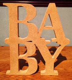 MDF Baby Stacked Cut Out  26cm tall x 20cm wide 1.8cm thickness free standing