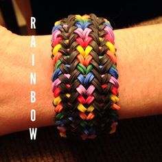 NEW Snake Belly Rainbow Loom Bracelet by JnJsCraftyBoutique