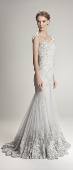Gorgeous flowing ethereal wedding gown.. Iove the bottom