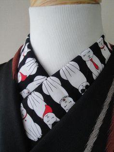 Haneri in Cool Cats Japanese Clothing, Japanese Outfits, Japanese Kimono, Kimono Fashion, Diy Fashion, Modern Kimono, Art Clothing, Kimono Style, Nihon