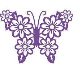 Silhouette Design Store: Butterfly With Flowers Wings Cajas Silhouette Cameo, Silhouette Design, Butterfly Crafts, Butterfly Art, Tin Can Flowers, Butterfly Coloring Page, How To Make Stickers, Alcohol Ink Crafts, Quilting Stencils