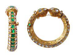Emerald & Rosecut Diamond Kundan Kada