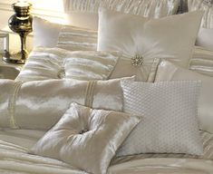 Kylie At Home has some utterly glamorous soft furnishings. Love the diamanté pieces on the cushions. It adds a touch of class. www.luxebyminihaha.co.uk