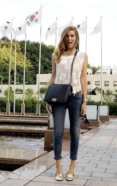 Chiara Ferragni...I admire her style..well, she is Italian :)
