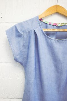 easy chambray bess top