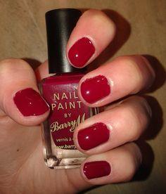 Emmaamazingemma: BarryM Nail Paint: Raspberry