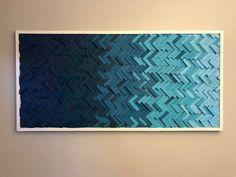 Diy Wall Art, Wood Wall Art, Diy Art, Wall Art Decor, Wave Pattern, Herringbone Pattern, Room Paint, Geometric Art, Art Pieces