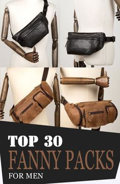 Whether you are planning to go travelling, camping, hiking or just casually hanging around, waist bags are the one that you could always rely on especially when it comes to holding your valuables! These bags are made to carry your essentials without you making worry or conscious about their safety! Leather Bum Bags, Leather Fanny Pack, Tan Leather, Leather Purses, One Shoulder Backpack, Mens Style Guide, Side Bags, Waist Pack, Denim Bag